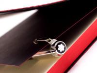 Made in Germany Montblanc Boheme/Bohème Doue Black Checkered Chequer Pattern Onyx Gemstone & Platinum 18K White Gold Flex Nib Safety Fountain Pen