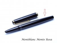 Vintage Black Resin Montblanc Monte Rosa Fountain Pen Body Barrel & Piston Unit Part Spare Repair