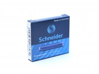 BLUE Schneider 6 Pack Ink Cartridges 6603 Short Standard International Size Made in Germany (Fit Most Vintage/New Fountain Pens)
