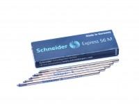 BLUE Schneider 56 M Express Multi Color Mini Size Ballpoint Pen Metal Slim Short Refill D1 ISO 12757-2 D 67mm Made in Germany (Fits Most New & Vintage Pens)