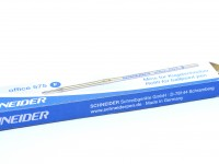 BLUE Schneider 575 / 75 Office Ballpoint Ball Pen Metal Slim Refill ISO 12757-2 A2 M Medium Size Made in Germany (Fits Most Vintage Pens)
