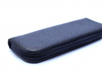 Oversize MEGA Germany High Quality Black Faux Leather Pouch