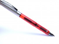 2000 Pelikan Pelikano P450 Red Transparent & Steel A/L Nib