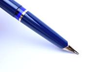 Pelikan M30 30 Rolled Gold Blue Fountain Pen
