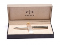 Parker Sonnet Flighter CT Stainless Steel Chrome Trim Twist Mechanism Ballpoint Pen in Box Made in France