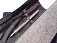 1970s Hexagonal Chevron Pattern Caran d'Ache Ecridor Alpaca & Silver Plated Goliath Ballpoint Pen