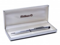 Pelikan Stremline Brushed Aluminum Knurled Ballpoint Pen