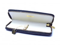 1960s Pelikan Original Genuine Leather Black Pouch Case for 3 Fountain / Ballpoint Pens