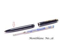 Vintage Black Resin Montblanc No. 38 28  Ballpoint Pen Lower Body Part Spare Repair
