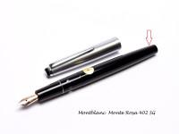 Vintage Black Resin Montblanc Monte Rosa 402 SG Fountain Pen Body Barrel & Piston Unit Part Spare Repair
