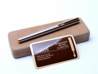 Parker Arrow Flighter DeLuxe Matte Brushed Stainless Steel Fountain Pen