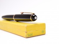 Stunning Oversize NOS in Box Original 1955 MONTBLANC 344 Flexible 14K Gold EF to 3B Nib Fountain Pen