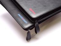Rare Paper Mate 48 Slots High Quality Black Leatherette Zipper Pouch Fountain Ballpoint Pen Pencil Case Holder/Folder