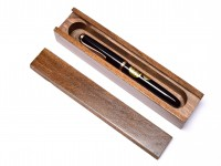Vintage 1980s Apocalypse Single Pen Box/Case Sarcophagus Made out of a Solid Block of Beech Wood - Hand Made