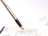 1990s Waterman Hemisphere France Matte Brushed Stainless Steel & Gold Cartridge/Converter M Medium Nib Fountain Pen