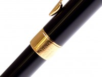 Parker Sonnet Black Lacquer & Gold Plated Trims Ballpoint Pen Made in France