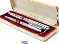 BOLASCRIP Germany Sterling 825 Silver Flexible Nib Fountain & Ballpoint Pen Set