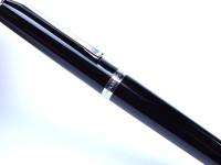 1968 Pelikan DK20 Push Button Black Resin & Chrome Ballpoint Pen