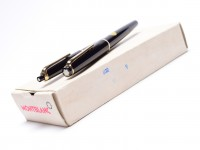 NOS New 1960s MONTBLANC No.32 & No.36 Pix Black Resin 14K Gold F/EF Nib Fountain Pen & Mechanical Pencil Set in Box