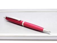 NOS New Rotring Freeway Red Rubin Metal Push Button Matte Satin Finish Ballpoint Pen In Box  S0213040