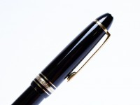 1980s Montblanc 146 Le grand Meisterstuck/Masterpiece Black Resin Fountain Pen