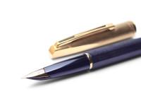 Waterman C/F CF CONCORD Brushed 18K Gold Nib Fountain Pen