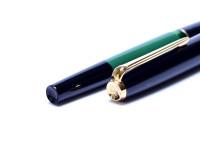 1960s Pelikan MK10 (Type 1) Airplane Safe Green & Black Resin EF Gold Nib Piston Filling Fountain Pen