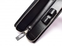 Montblanc High Quality Genuine Leather Zipper Case Pouch for One Oversize Pen