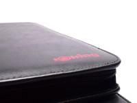 Rare Rotring 48 Slots High Quality Black PU Leather Zipper Pouch Fountain Ballpoint Pen Pencil Case Holder/Folder