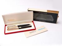 Pelikan M30 R30 30 Rolled Gold 14K M Nib Fountain Ballpoint Pen Set Box
