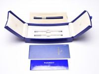 Amazing NOS 2000s WATERMAN Serenite/Sérénité/Serenity Metallic Lacquered Midnight Blue & 925 Sterling Silver Rollerball / Ballpoint Pen in Box