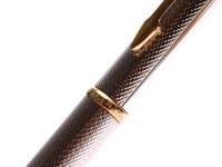 "1990's Parker Insignia Silver Plated  Grain d'Orange ""Barleycorn"" Pattern 0,5 MM Leads Push Mechanism Mechanical Pencil"