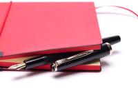Vintage 1960s Reform 4328 Round Anthracite 14K Gold Flexible F to BB Nib Piston Fountain Pen
