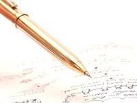Sheaffer Prelude 22K Gold Plated Fluted 0.7 Upper Body Push Mechanism Mechanical Pencil