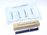 Rare 1930s MOSTER-PENKALA Berlin SW68 (No.930) Germany with Wet Fully Flexible EF 14K Nib Push Button Filling Piston Fountain
