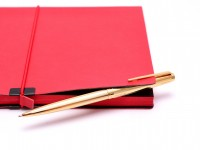 Vintage Montegrappa Oro Guilloche Gold Plated Push Upper Body Mechanism Ballpoint Pen