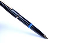 Rare 1960s MONTBLANC No.32 #32 32 Black Resin EF Extra Fine 14K 585 Semi Flexible Wing Nib Piston Fountain Pen