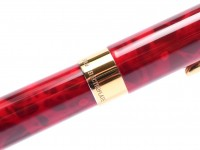Sheaffer Crest 581 Marble Nova Flame Red Solid 18K Gold 750 Two Tone Triumph Nib Cartridge Fountain Pen
