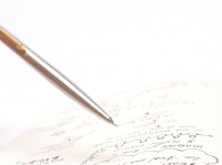 Parker Flighter 45 Stainless Steel & Gold Plated Trim Push Button Made in UK Mechanical Pencil