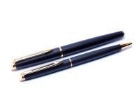 Waterman Hemisphere Matte Black & Gold Fountain & Ballpoint Pen Set