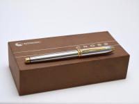 The Original Oversize 1990s CROSS Townsend Made in Ireland Steel Chrome & 23K Gold Fountain Pen Fine Nib