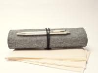1970s Hexagonal Chevron Pattern Caran d'Ache Ecridor Alpaca & Silver Plated Goliath Ballpoint Pen in Box
