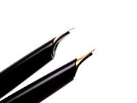 "1960 Rare Pelikan MK30 (30) M30 Rolled Gold & Black Resin 14K D DEF ""Dokumentieren"" Nib Piston Fountain Pen"