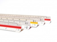 NOS Vintage Rotring Triangular Scale Ruler R80202190 - ARCHITECT DIN In Case