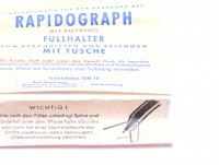 1950s NOS 1.2mm Rotring Rapidograph Tintenkuli Piston Filler Technical Drawing Pen In Box