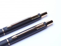 PARKER Cisele Matte Black & Gold Pen & Pencil