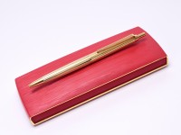 Caran d'Ache No. 852 Gold Plated Ballpoint Pen In Box
