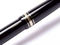 Montblanc Meisterstuck Masterpiece LeGrand Document Marker/Highlighter No. 166 Black Resin with Gold Trim