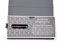 NOS Parker Ingenuity 5th Technology Black Lacquer & Gold Plate Innovative Pen in Box