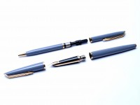 Waterman C/F CF Grey Set Fountain and Ballpoint Pen in box